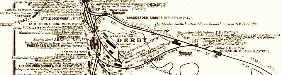Extract from the MR Distance Diagram for Derby (click for the 2.1Mb full file)
