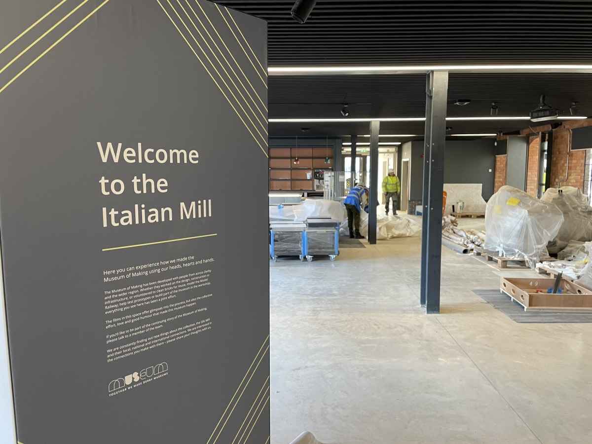 A sign reads Welcome to the Italian Mill
