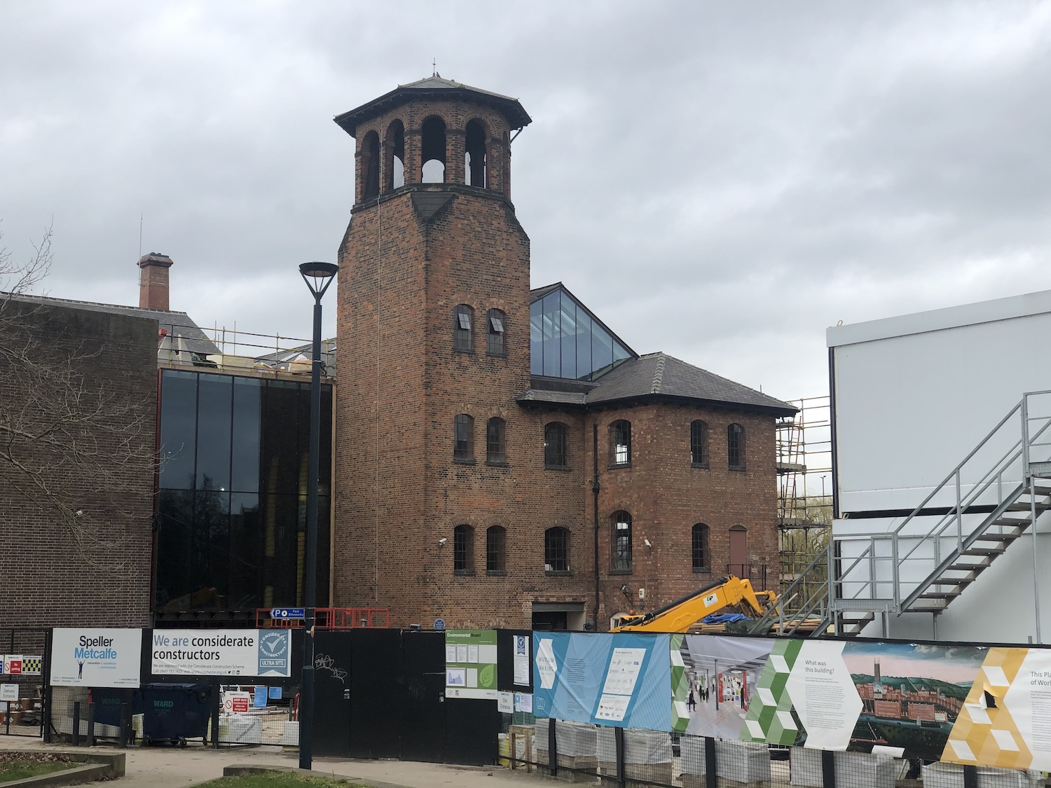The Silk Mill without its scaffolding