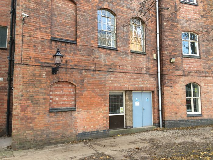 View of the Silk Mill and the back door