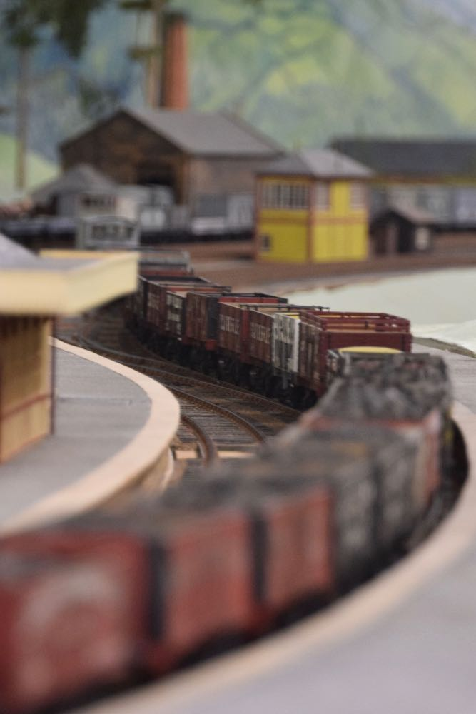 A view of the model railway in Derby's Silk Mill Museum