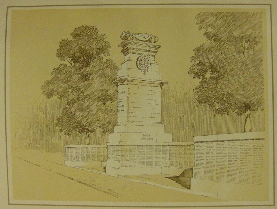 Designed by Sir Edwin Lutyens, the memorial to the 2,833 men of the Midland Railway who were killed in the Great War of 1914 - 1918, which was unveiled on Thursday 15th December 1921.